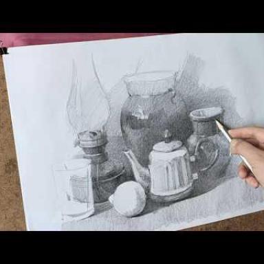 Рисование натюрморта с натуры