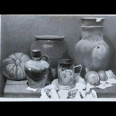 Натюрморт с керамикой