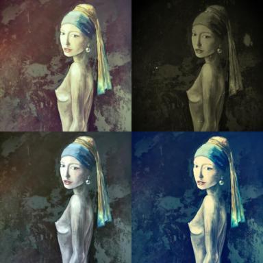 Девушка (компиляция в разных фильтрах)