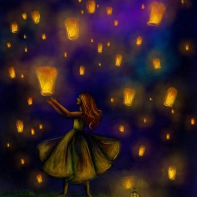 Midnight lanterns