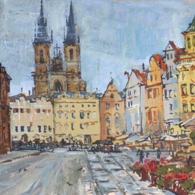 Серый день в Праге