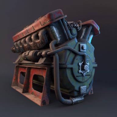 The T-34 tank motor