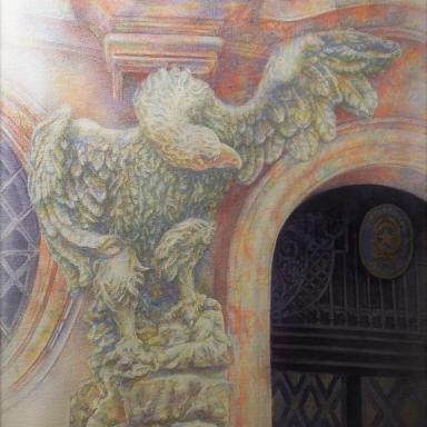 «Посольский гриф» бумага, акварель 37,5 × 30