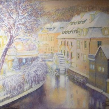 «Река Чертовка» бумага, акварель 38 × 30 см
