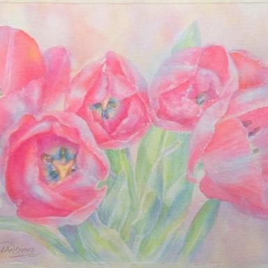 «Букет тюльпанов» 40 × 24 см